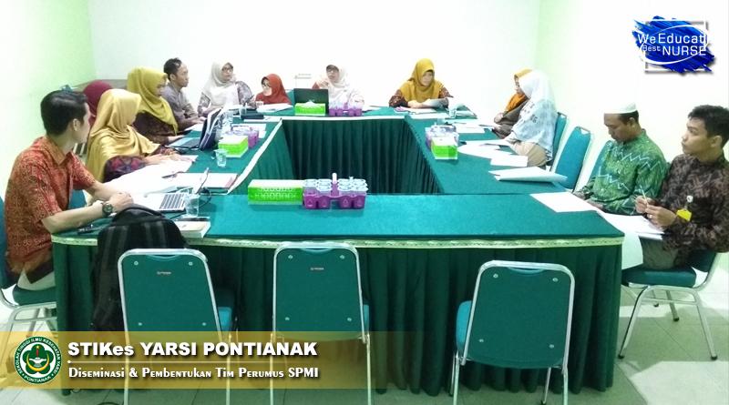STIKes Yarsi Pontianak Gelar Diseminasi & Pembentukan Tim Perumus SPMI