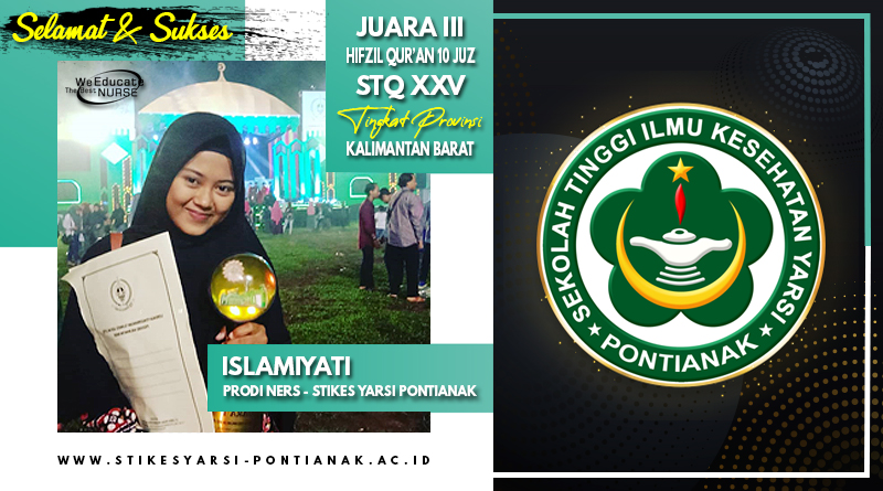 Mahasiswi Prodi Ners STIKes Yarsi Pontianak Raih Peringkat 3 STQ Tingkat Provinsi