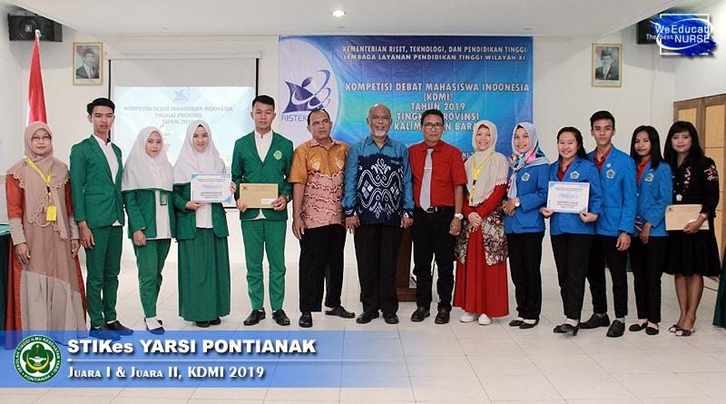 STIKes Yarsi Pontianak Juara Dua Kompetisi Debat Mahasiswa Indonesia 2019