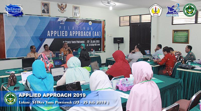 Tingkatkan Kompetensi Dosen, STIKes YARSI Pontianak Gelar Pelatihan Applied Approach Tahun 2019