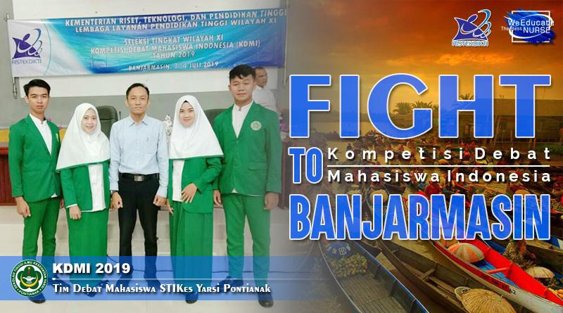 STIKes Yarsi Pontianak Wakili Kalbar Pada Kompetisi Debat Mahasiswa Indonesia 2019 di Banjarmasin